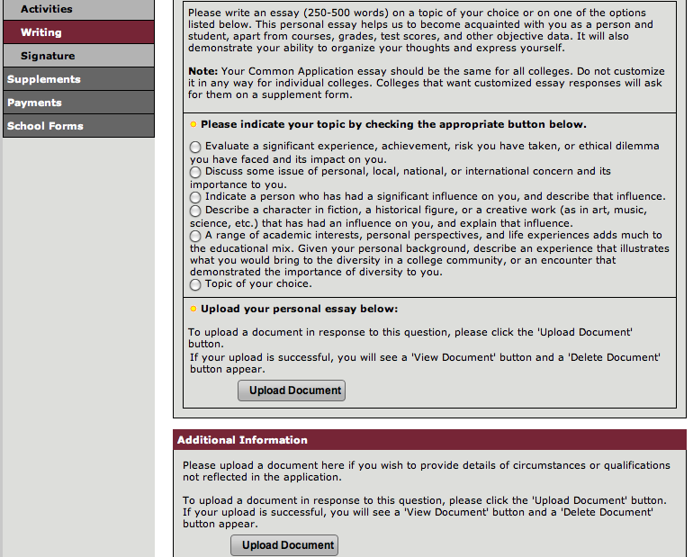 the common application everything you need to know mva college  most of the other parts of the common app