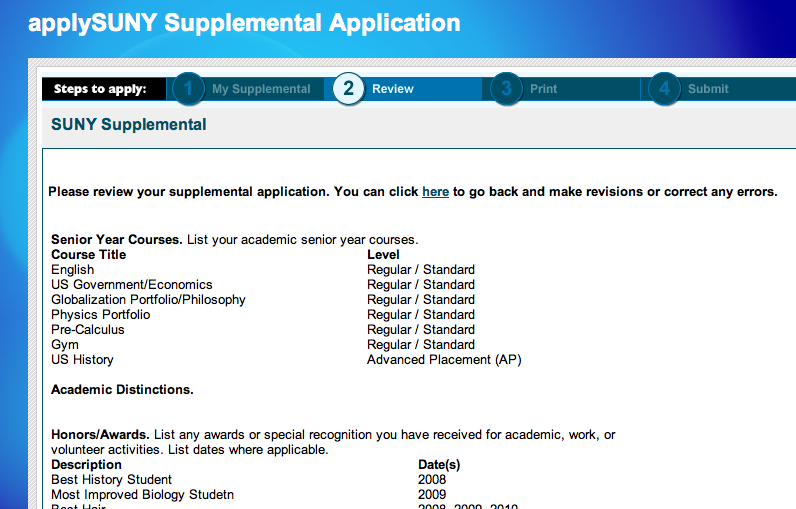 suny next steps the supplemental application mva college guidance if